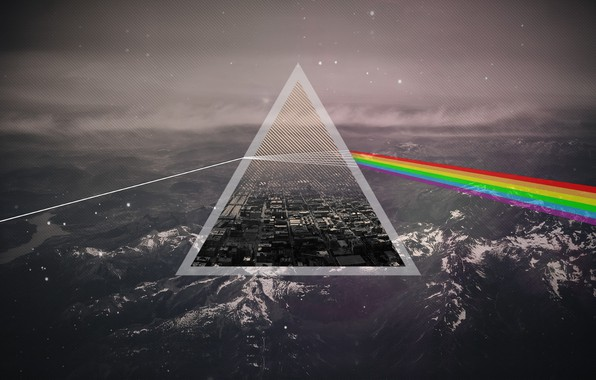 Picture Music, Background, Triangle, Pink Floyd, Rock, Dark side of the moon, Pink Floyd, The Dark …