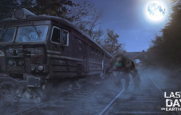 Picture Night, Train, Moon, Monster, Night, Train, Sniper, Railway, Sniper, Monster, Railroad