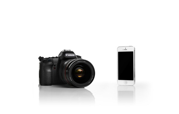 Picture iPhone, White, Canon, Camera, Silver, Backgraund