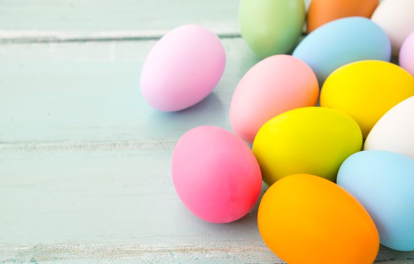 Picture eggs, spring, colorful, Easter, spring, Easter, eggs, decoration, Happy, tender