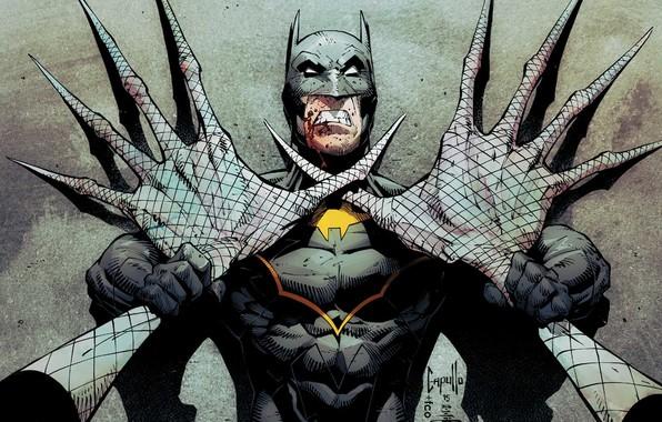 wallpaper batman costume hands hero mask comic claws
