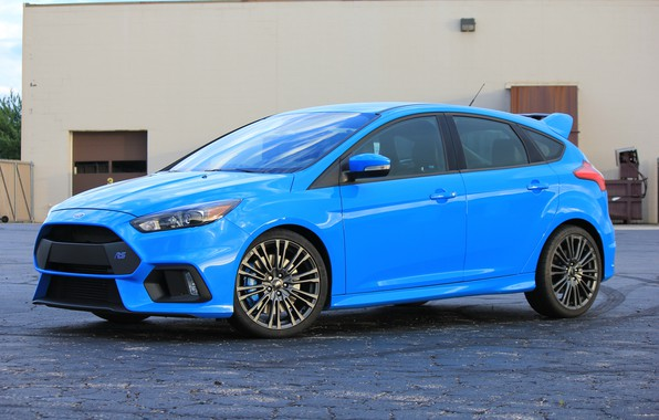 Photo wallpaper ford, blue, 2017, focus
