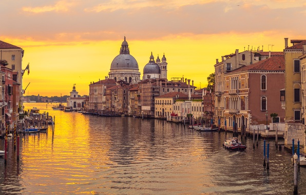 Picture sunset, city, the city, Italy, Venice, channel, Italy, panorama, Europe, view, Venice, cityscape, travel, canal