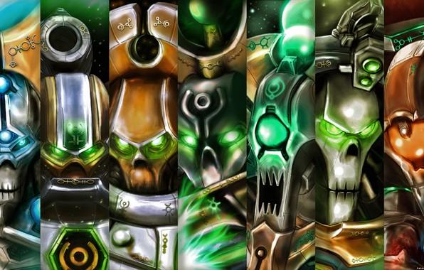 Picture Warhammer 40 000, Necrons, lord necron