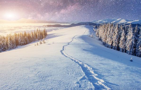 снег холмы snow hills  № 830864 загрузить