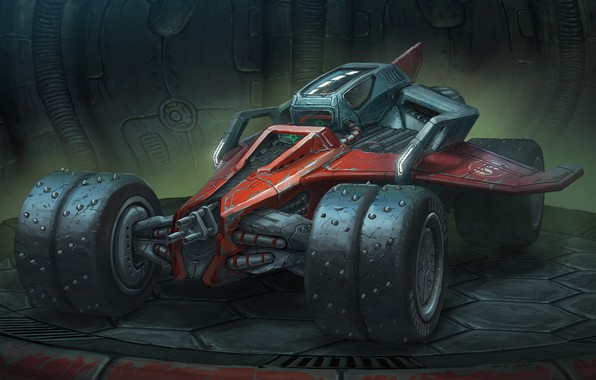 Picture design, transport, technique, car, Rock n' Roll Racing Airblade Concept