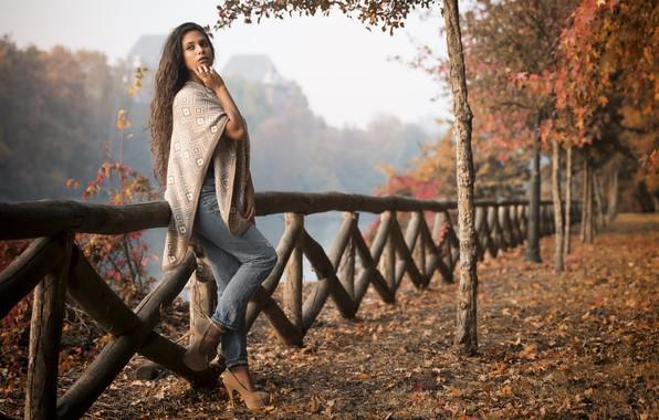 Picture autumn, model, walk, Joanna