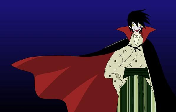 Picture parody, art, Dracula, black cloak, Sayonara Zetsubou Sensei, dull teacher, Goodbye, Hideyuki Morioka, Itoshiki Nozomu