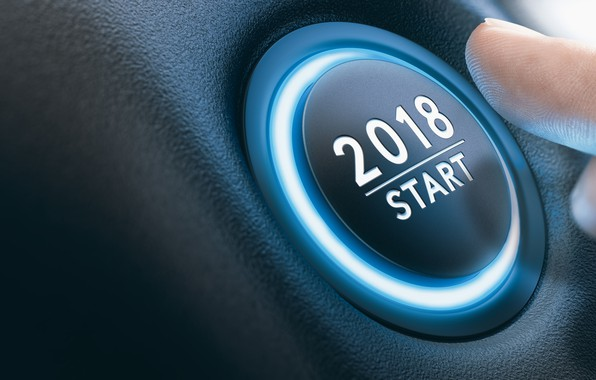 Picture new year, finger, button, start, 2018