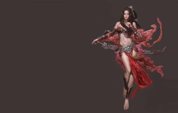 Picture the game, warrior, fantasy, art, costume design, Eart CG, Female character design