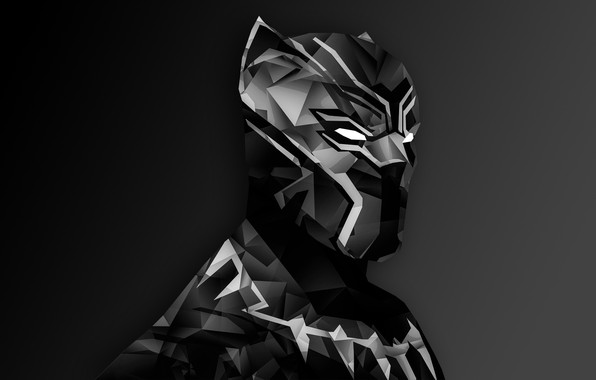 Picture Marvel, digital art, suit, Black Panther, helm, T`Challa