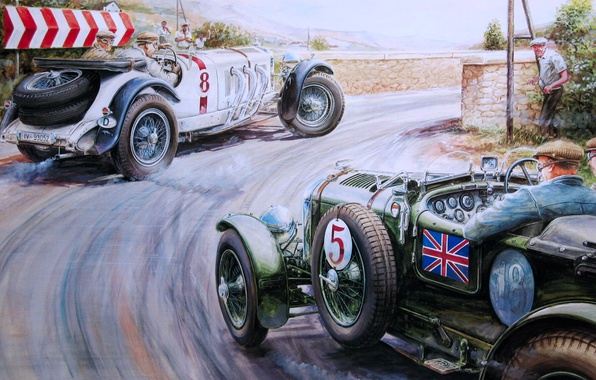 Picture road, retro, Picture, race, rally, Vaclav Zapadlik