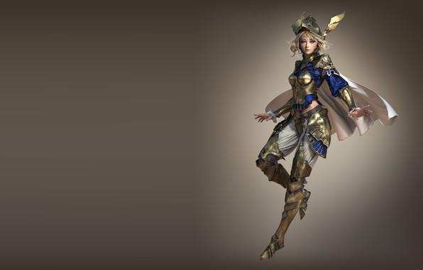Picture armor, warrior, art, fantasy, warrior, Valkyrie, 3d, Nick Gaul, Sapphire Valkyrie