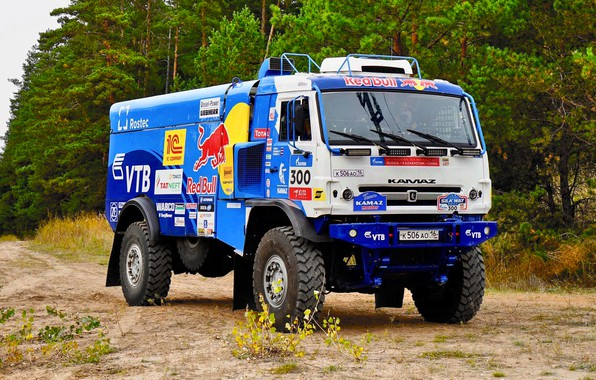 Picture Nature, Forest, Sport, Truck, Race, Master, Russia, 300, Kamaz, Rally, Rally, KAMAZ, The roads, Best, …