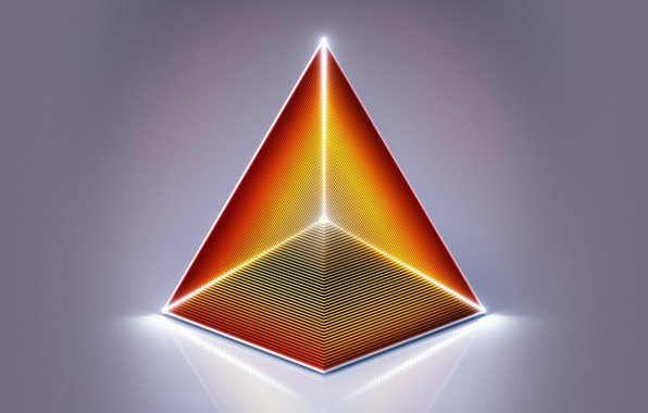 Picture abstraction, pyramid, the volume, face, triangle