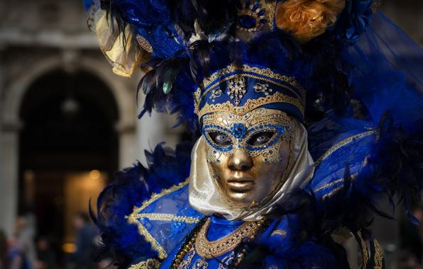 Picture mask, Italy, costume, Venice, carnival