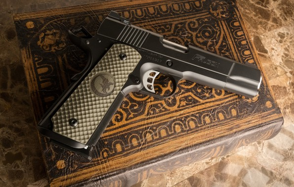 Picture gun, weapons, book, gun, pistol, weapon, Falcon, book, M1911, 1911, Nighthawk