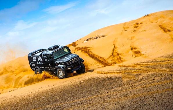 Picture Sand, Black, Race, New, Kamaz, Rally, Dakar, KAMAZ, Dune, Kapatnik, Master