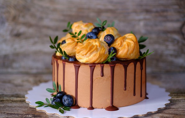 Picture berries, the sweetness, chocolate, cakes, Cake