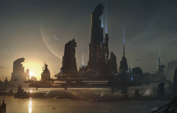 Picture the city, planet, Sci-fi City