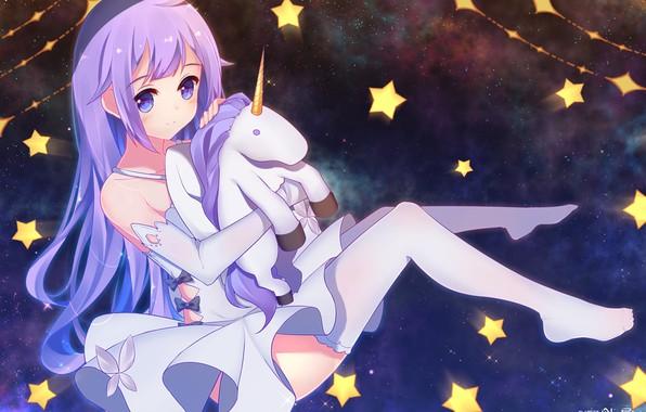 Picture space, anime, unicorn, girl, azur lane, hms unicorn