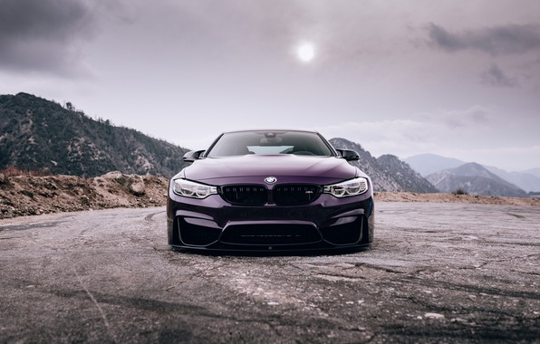 Picture BMW, Purple, Front, Face, F82, Sight