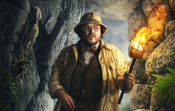 Picture stones, fire, hat, fantasy, glasses, jacket, costume, torch, cave, adventure, poster, the grotto, Professor, Jack …