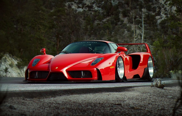Picture Ferrari, Red, Enzo, Tuning, Future, Supercar, by Khyzyl Saleem