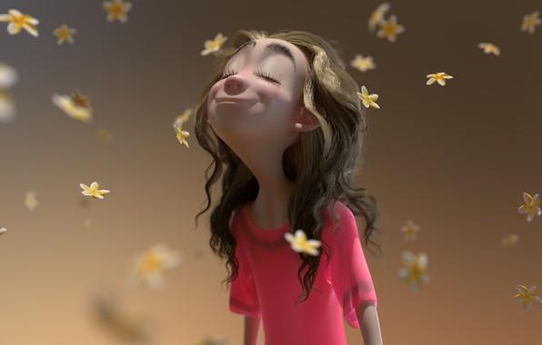Picture mood, petals, art, flowers, Spring, girl. spring, Glenn Melenhorst