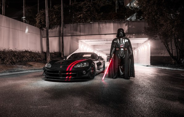 Picture Star Wars, Dodge, Viper, Night, V10, SRT, Darth Wader