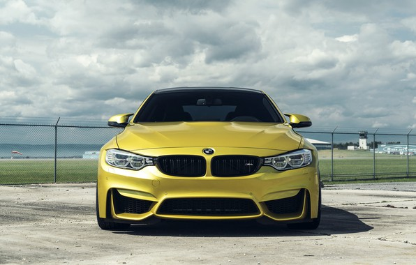 Picture BMW, Sky, Front, Grid, Gold, F82