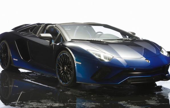 Picture machine, water, blue, background, Lamborghini, car