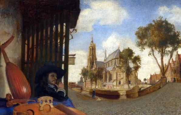 Picture picture, musician, the urban landscape, View Of Delft, Carel Fabritius, Karel Fabricius