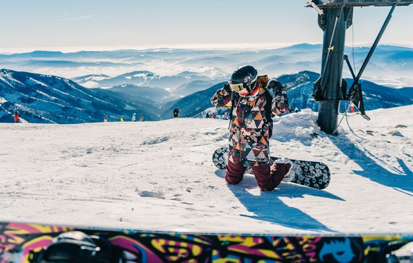 Picture Winter, Girl, Snow, Mountain, Snowboard, Girl, Landscape, Winter, Landscape, Mountain, Snow, Snowboard, Top, Snowboarding, Snowboarding, …