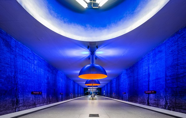 Picture metro, station, Germany, Munich, the platform, lamp