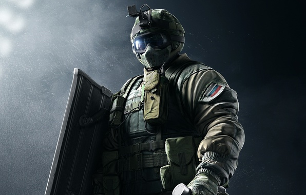 Picture game, soldier, Rainbow Six, shield, Special forces, Tom Clancy's Rainbow Six Siege, Rainbow Six Siege, …