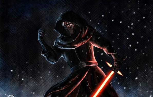Picture fan art, Kylo Ren, Star wars.Episode VII:the force awakens, Dark side of the Force