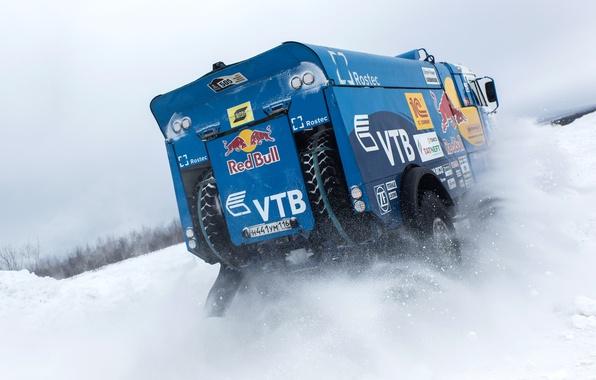 Picture Winter, Snow, Truck, Master, Russia, Kamaz, Rally, KAMAZ, Dakar, Power, RedBull, Master, The Arctic