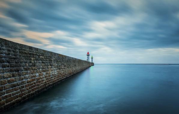 Picture sea, lighthouse, pierce