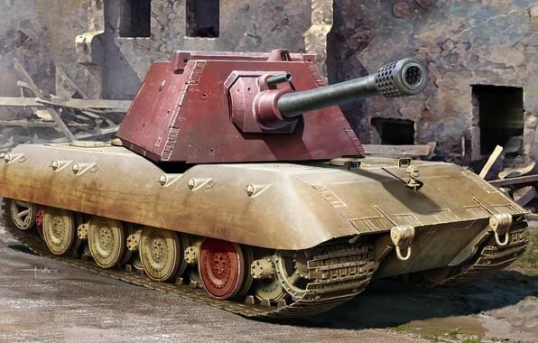 Picture Figure, Germany, Tank, Panzerwaffe, Vundervaffe, E-series, Superheavy
