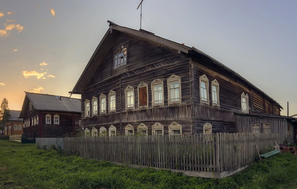 Picture village, Arkhangelsk oblast, Mezensky district, Cilca