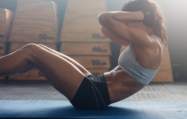 Picture brunette, workout, fitness, abs