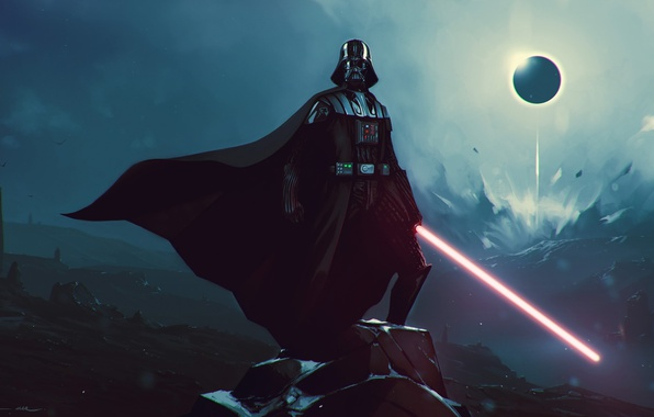 Photo wallpaper lord vader, lightsaber, black side of the force, Star Wars, SW, pearls, Darth Vader, strong, ...
