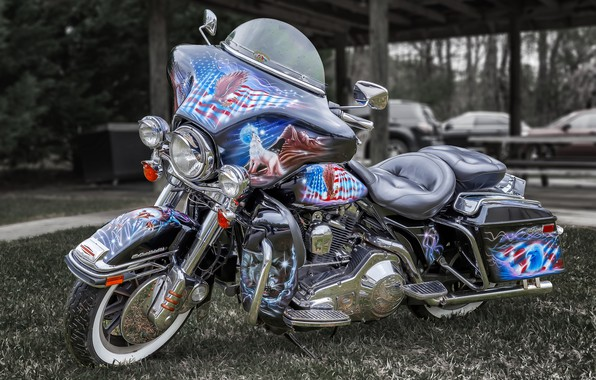 Picture design, style, airbrushing, bike