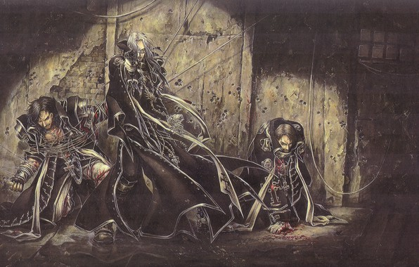 Picture trinity blood, art, military uniform, the basement, trap, prisoners, Abel Nightroad, Trinity blood, traces of …