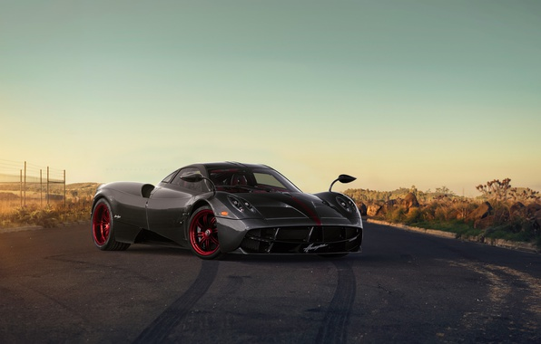 Picture Pagani, Front, Sun, Grey, Supercar, To huayr