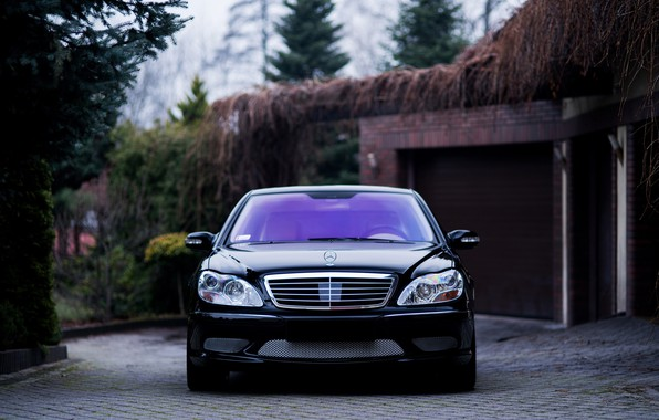 Picture Mercedes, Classic, Front, Black, Legend, S500, W220