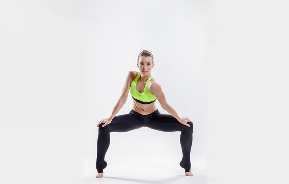 Picture girl, fitness, stand