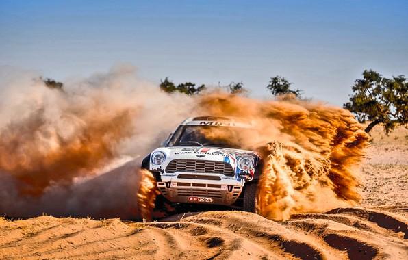 Picture Sand, Mini, Dust, Vinyl, Sport, Desert, Speed, Race, Skid, Britain, Heat, Rally, Rally, Raid, MINI …