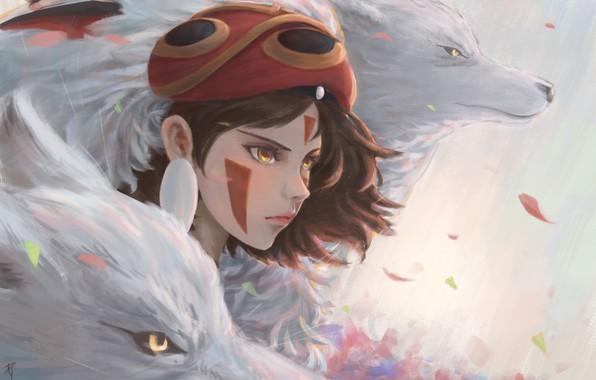 Wallpaper Wolves San Mononoke Hime By Danielju Images For Desktop